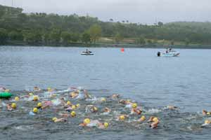 swim course Marble Falls Triathlon